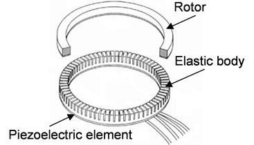 Construction of ultrasonic motor