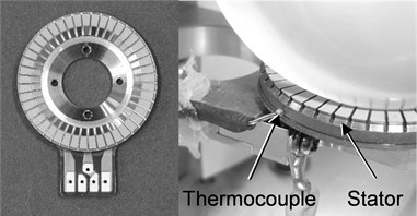 Stator using N6 and setting of thermocouple