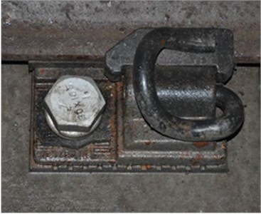 The detail structural components of DZ III rail fastener