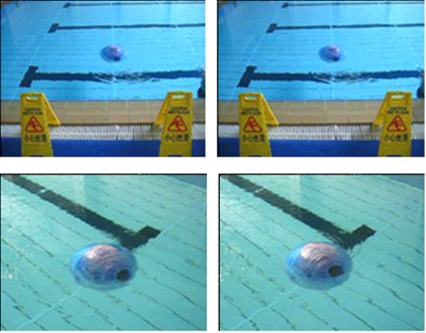 Underwater motion picture of BYSQ-3