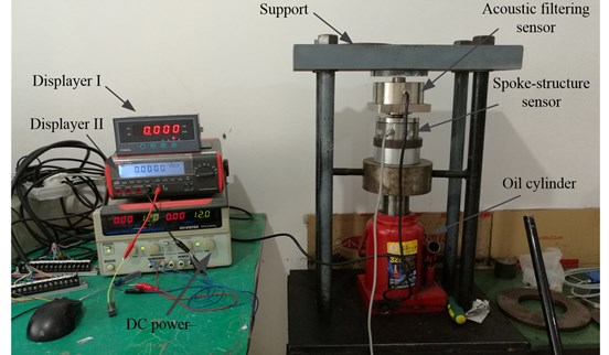 The calibration experiment of acoustic filtering sensor