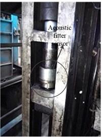 The installment of acoustic fitter sensor