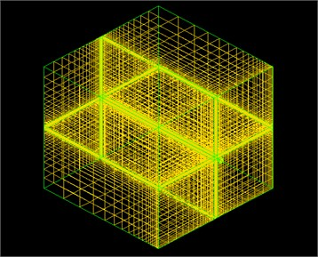 3-d model and grid