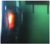 Development of vapor in the simulation of three-phase jet flow (experimental results)