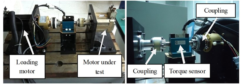 Photos of servo motor limit capacity test bench