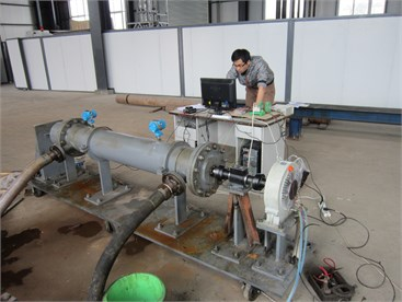 Testing bench of ten-stage turbines
