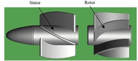 The structure of downhole turbine generator
