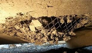 Photographs of local damage tests on concrete slabs under explosive loads [20]