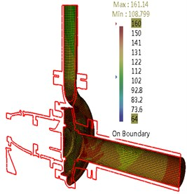 Sound pressure for flow-borne noise considering structure at BPF