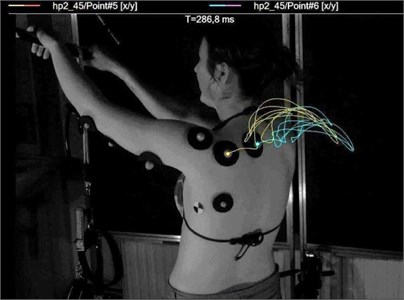Repetitiveness of the movement trajectory obtained under laboratory conditions