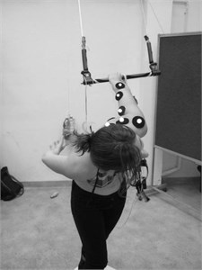 Attempt of passing the handlebar with the different angle  of deviation between the arm and the back