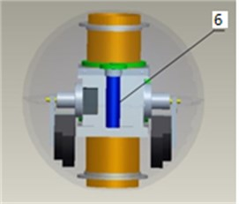 Model of the robot's structure and driving forces