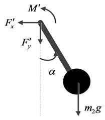Force diagrams of  the internal pendulum mechanism