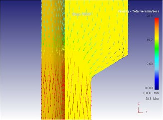 The extrusion stroke is 10 mm under the traditional extrusion