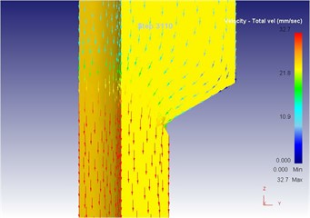 The extrusion stroke is 31 mm under the traditional extrusion