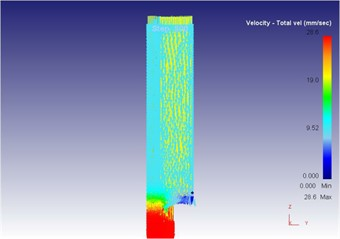 The extrusion stroke is 5 mm under the vibration extrusion