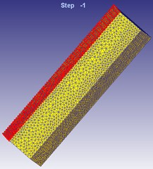Diagram of boundary condition settings of finite element model
