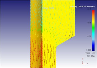 The extrusion stroke is 17 mm under the vibration extrusion
