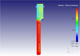 The extrusion stroke is 31 mm under the vibration extrusion