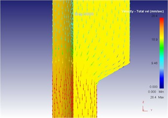 The extrusion stroke is 40 mm under the vibration extrusion