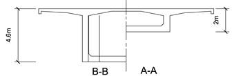 Schematic views of the bridge (unit: m)