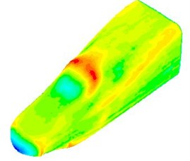 Fluctuating pressure contours of the high-speed train cabin