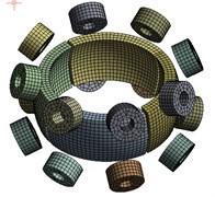 Model mesh diagram