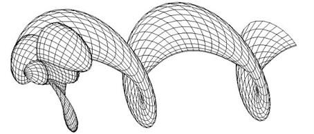 Panel arrangement of propeller and wake