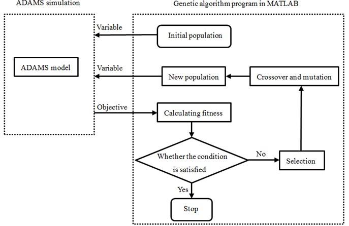 Flow of optimization through genetic algorithm
