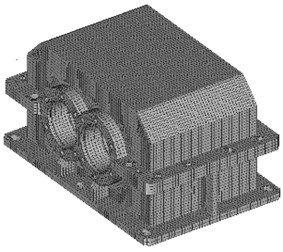 Sample geometrical model of a non-ribbed housing