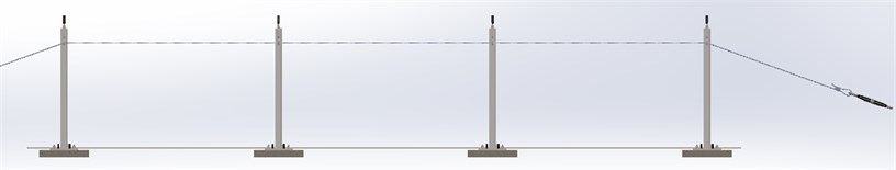 The laboratory model of the overhead transmission line