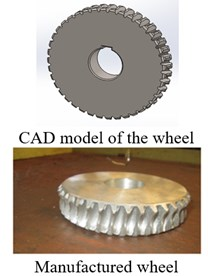 The exploitation of reverse engineering results to manufacture the wheel and worm