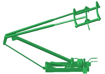 Geometric model of pantographs of high-speed trains