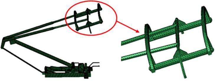 Aerodynamic mesh model of pantographs