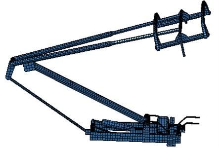 Acoustics boudary element model of pantographs