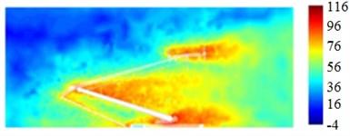 Sound source distribution of pantographs