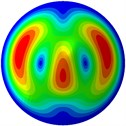 Mode shapes of the first ten vibration modes