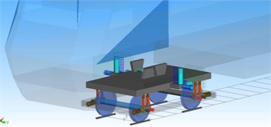 Multi-body dynamic model of bogies and local structures
