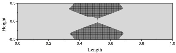 Plastic deformation of simply supported beam at time 3.14 ms