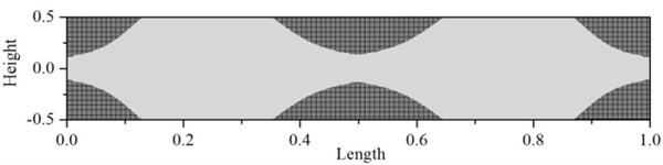 Plastic deformation of fixed beam at time 12.1 ms