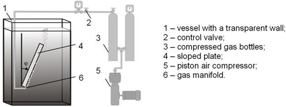 Experimental setup for visual investigation