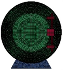The mesh of geometrical model
