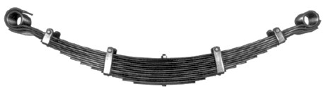 Comparison of leaf spring elements: a) conventional trapezoidal  b) improved trapezoidal parabolic [5] c) parabolic