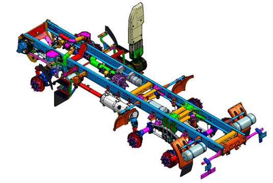 Frame of the special-purpose vehicle (KPWM) [15]