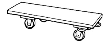 Wheeled platform – industrial dolly [9]