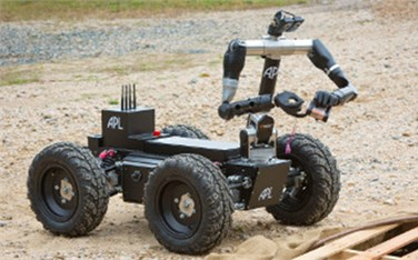Robot wheeled platforms: a) industry leader (basic) and b) explosive ordnance disposal [12]