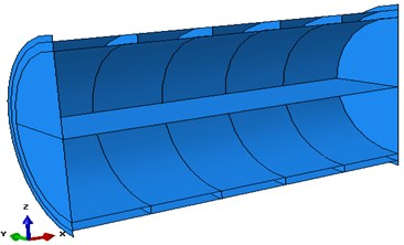 Cylindrical shell model