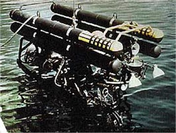 Cable-controlled undersea recovery  vehicle CURV