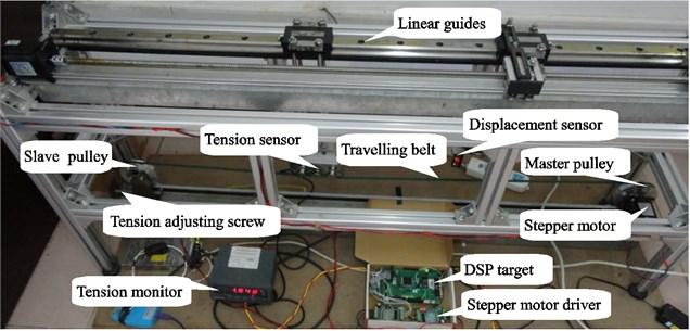 Measurement system of the axially travelling belt and experimental devices