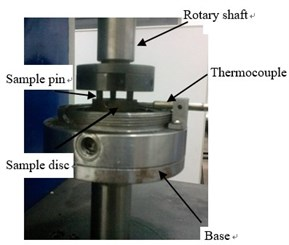 Pin-disc friction and wear testing machine